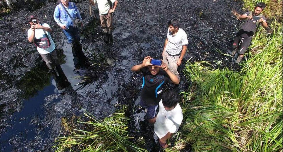Se dispuso la continuación del plan de contingencia y recuperación de crudo interrumpido por el conflicto socioambiental. (Foto: Ministerio Público)