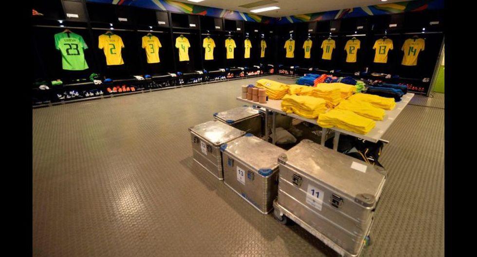 Así lucen los vestuarios previo a la final de la Copa América 2019. (Foto: @CopaAmerica)