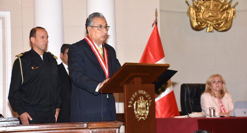 El presidente del Poder Judicial, José Luis Lecaros, consideró que el Congreso aprobará los proyectos que más le convengan  al país. (Foto: Poder Judicial)