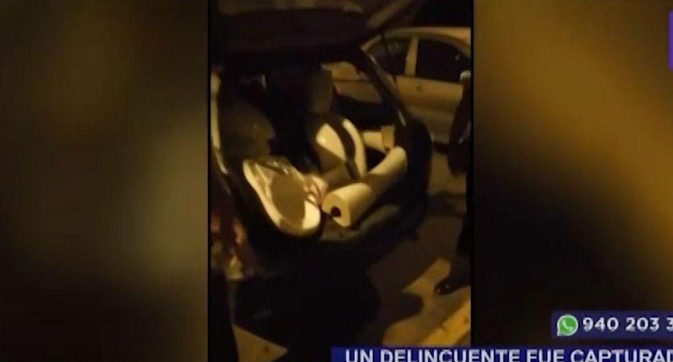 El presunto delincuente negó las acusaciones en su contra, pese a que las autoridades hallaron los lavatorios e inodoros en su vehículo. (Foto: Captura/Latina)
