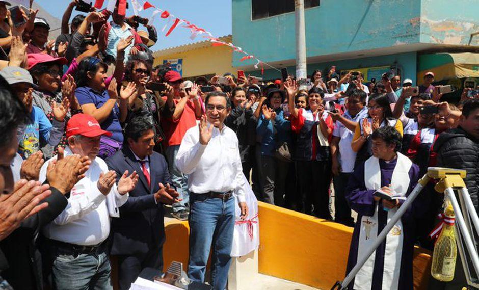El presidente Martín Vizcarra indicó que su gobierno no hace pactos bajo la mesa. (Foto: Presidencia)