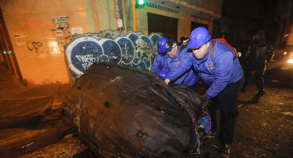 Los trabajadores retiraron grandes cantidades de basura. (Foto: MML)