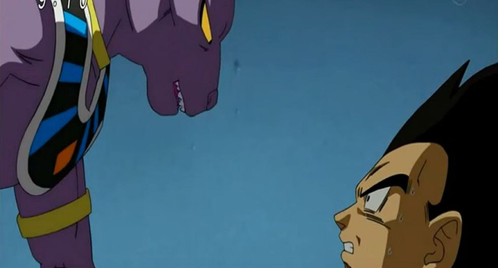 Escena del capítulo 6 en la que Vegeta recuerda haber visto antes a Bills, el Dios de la Destrucción. (Foto: Captura YouTube)