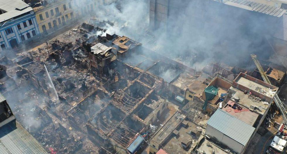 Así quedó la zona afectada tras el incendio. (Foto: Giancarlo Ávila/ GEC)