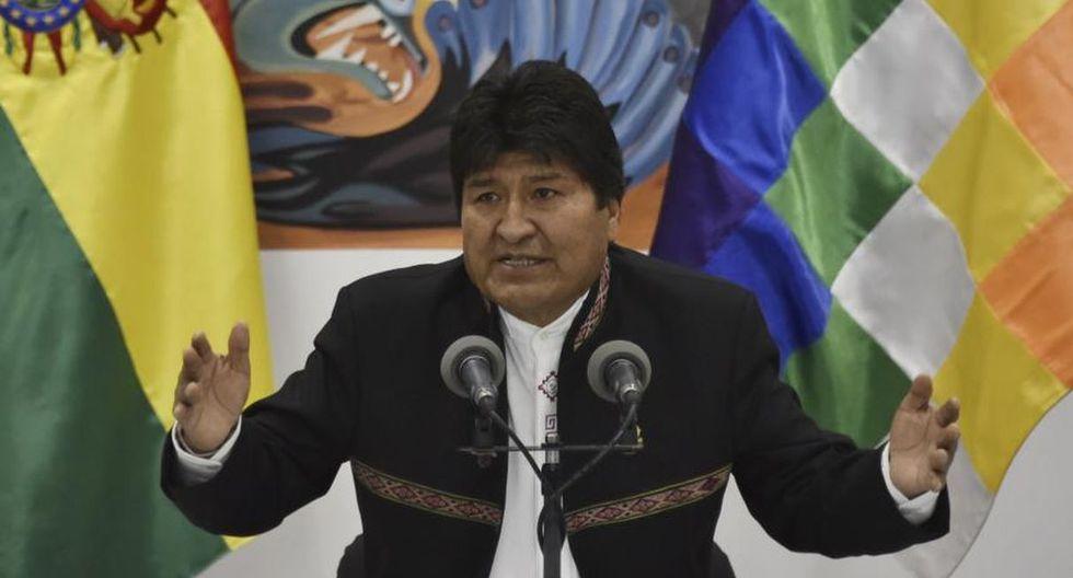 Evo Morales descartó cualquier negociación política con la oposición sobre el recuento final de las elecciones. (Foto: AFP)