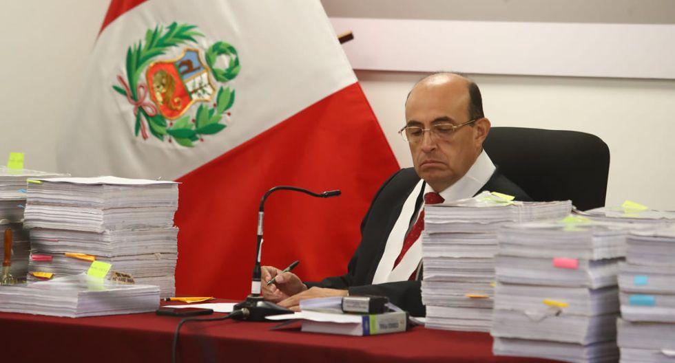 El juez Víctor Zúñiga Urday terminó hoy la etapa de debate entre José Domingo Pérez y la abogada de Keiko Fujimori. (Foto: Alessandro Currarino / GEC)