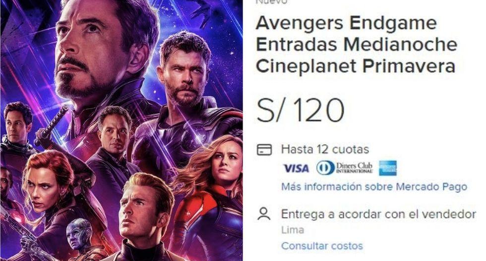 La reventa aprovecha la emoción por ver 'Avengers: Endgame'. (Foto: Marvel / Captura)