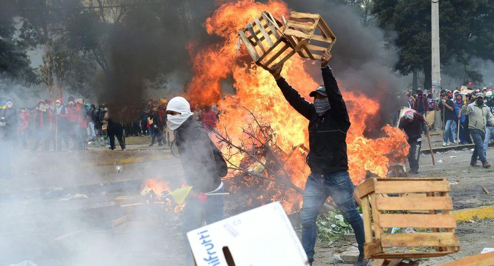 Violentos enfrentamientos se registran en nueva jornada de protestas en Ecuador (Foto: AFP)