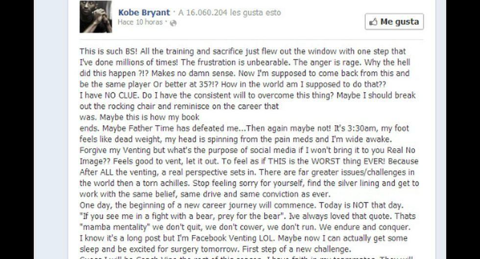(Foto: Facebook - Kobe Bryant)