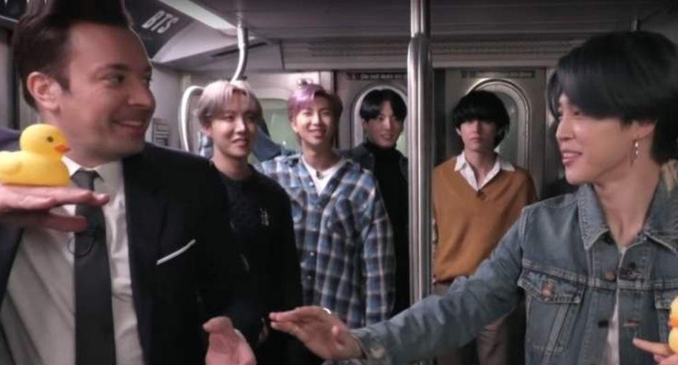 BTS regresó al programa de Jimmy Fallon. (Foto: Captura YouTube)