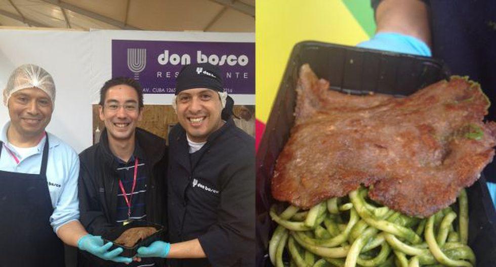 Mundo Limeño: Tallarines verdes con bistec apanado – Don Bosco. (Foto: Valerie Dinev)
