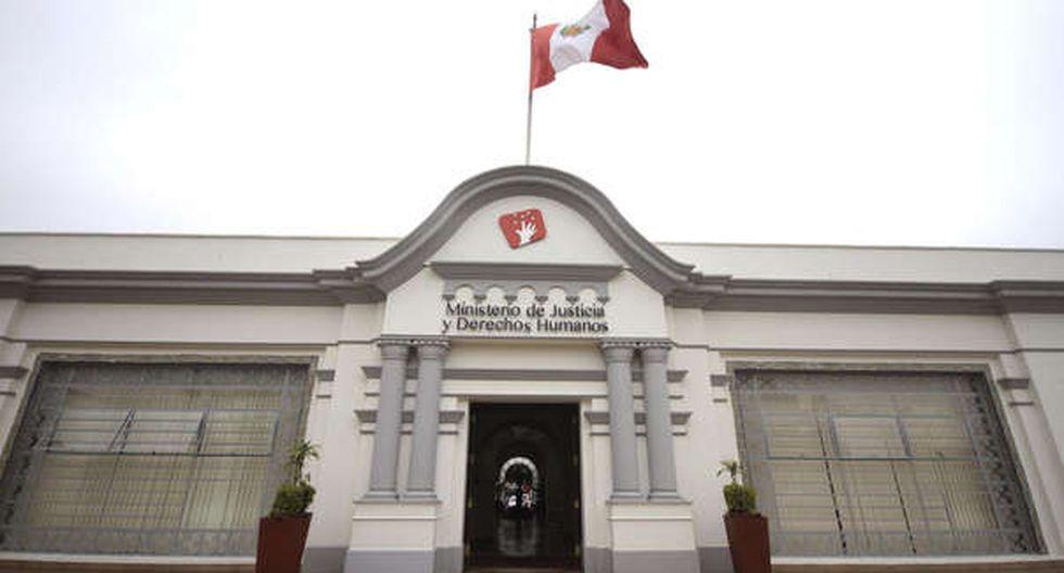 Ministerio de Justicia y Derechos Humanos (Minjus) oficializó la medida a través de la Resolución Supremo. (Foto: Andina)