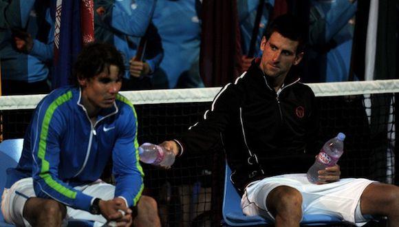 Djokovic y 'Rafa' tras la final. (Foto: AFP)