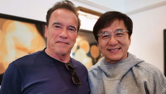 Arnold Schwarzenegger califica como su héroe e inspiración a Jackie Chan. (Foto: Instagram)