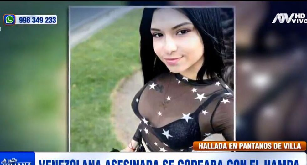 Joselyn Daniela Vásquez Hernández fue hallada muerta el último lunes en una acequia de los Pantanos de Villa, en Chorrillos. (ATV)
