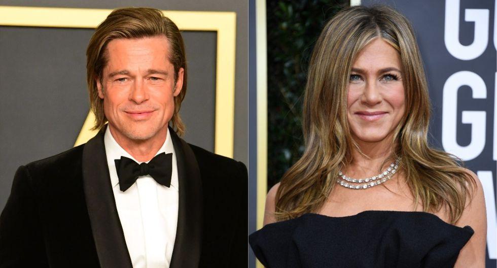 Brad Pitt y Jennifer Aniston se reencontraron en el after party del Oscar 2020. (Foto: AFP)