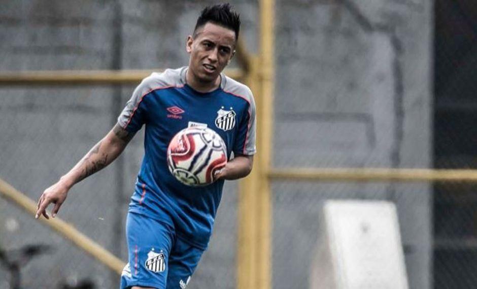 Christian Cueva apenas se había presentado en Santos esta semana. (Foto. Santos)