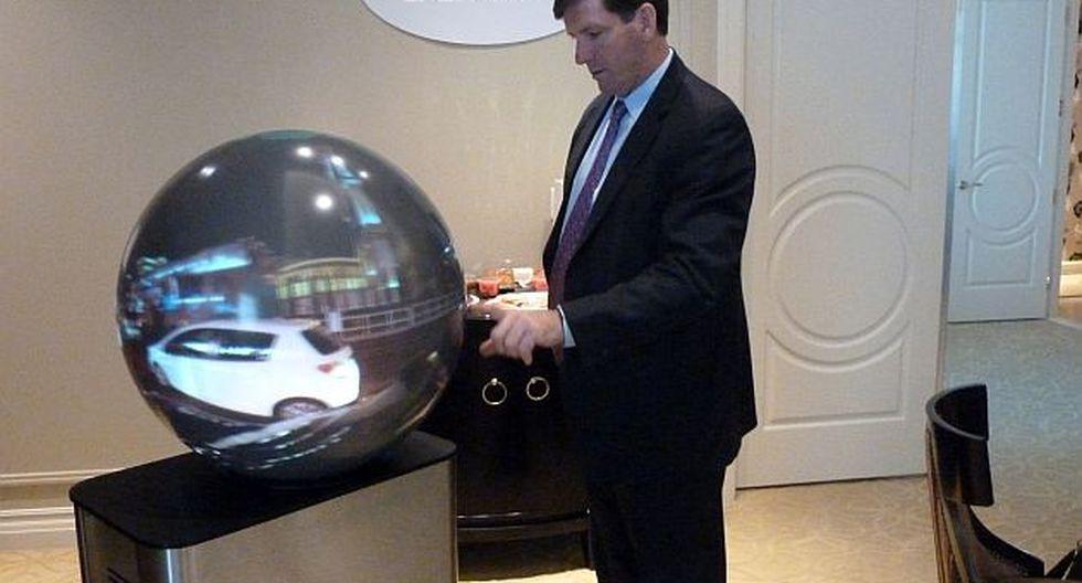 Pantalla esférica (Foto: AFP)