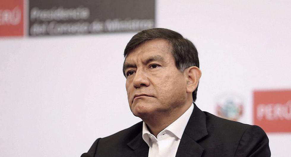 """""""En 45 días se ha capturado a los tres prófugos más buscados de la justicia peruana: Carlos Burgos, Edwin Donayre y ahora Félix Moreno"""", señaló el ministro Morán. (Foto: GEC)"""
