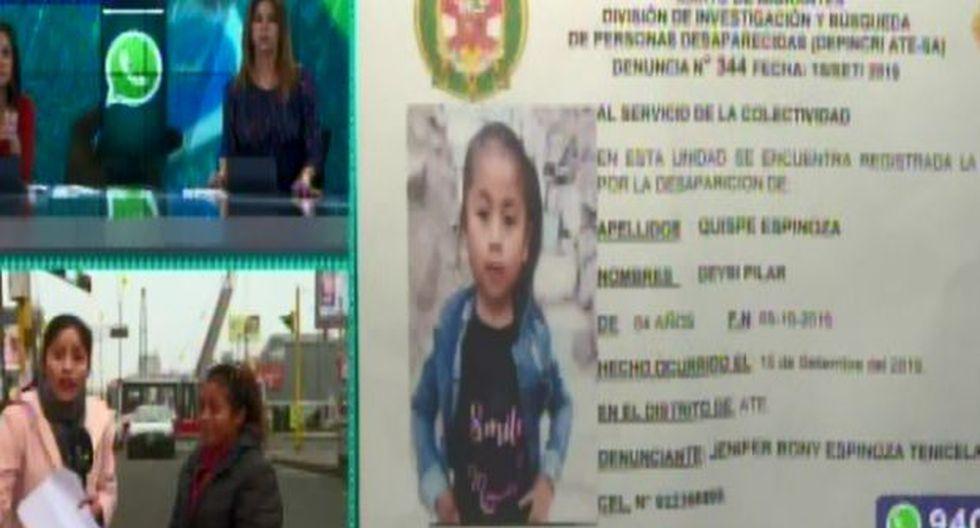 La Policía continúa buscando a la menor. (Foto: Captura/Latina)