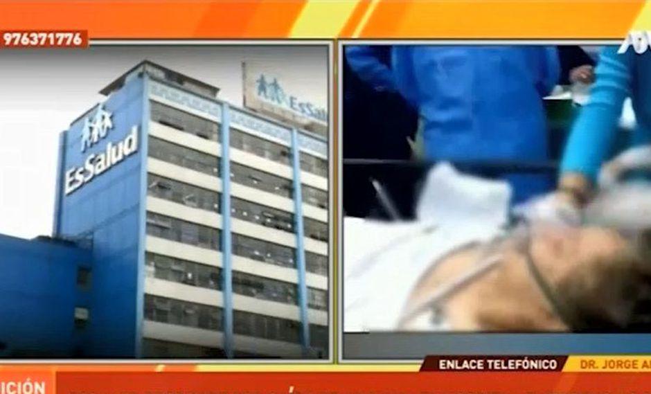 Paciente de 71 años cayó del octavo al sexto piso cuando intentaba cerrar la ventana de su habitación. (Captura: ATV Noticias)