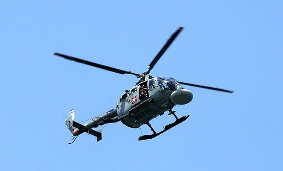 Foto referencial, helicóptero de la armada mexicana. (Foto: AFP)