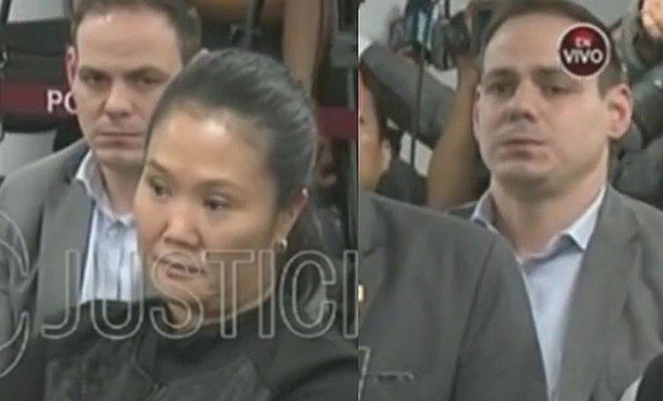 Mark Vito, esposo de Keiko Fujimori, siguió de cerca toda la audiencia.