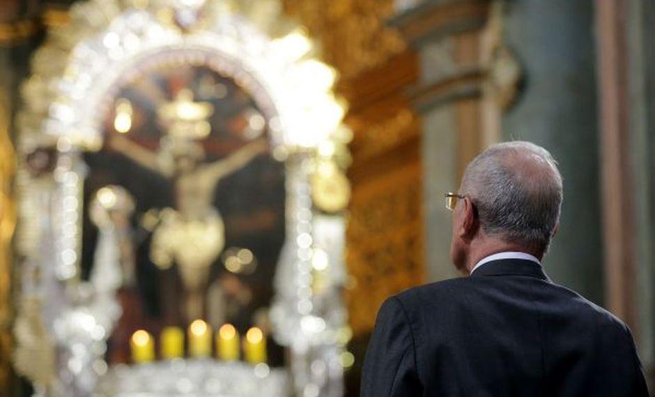 PPK en la misa en honor al Señor de los Milagros. (Andina)