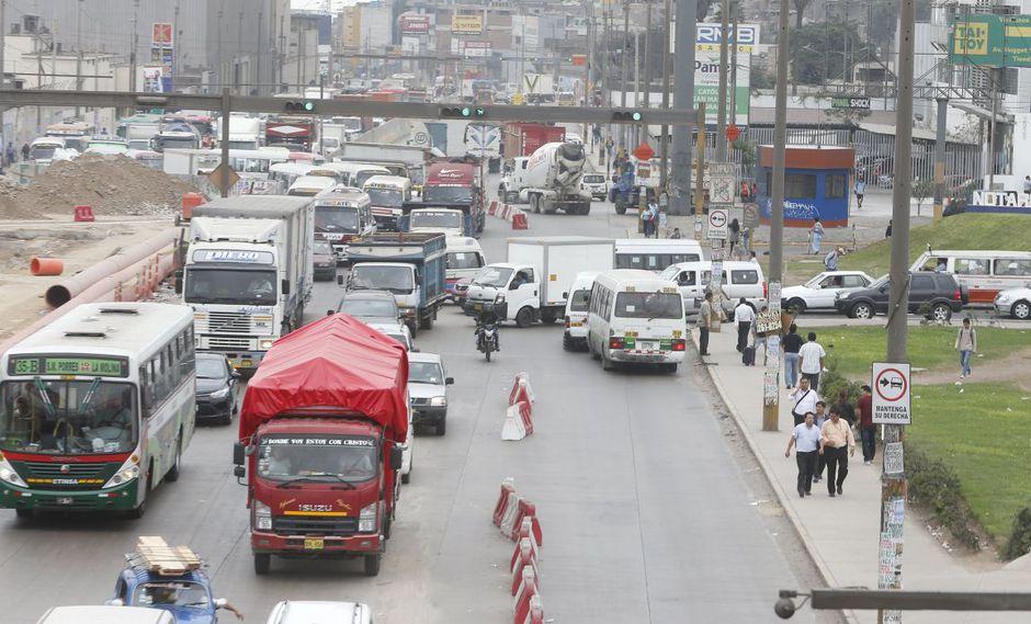 Ate asegura que las obras de la Línea 2 del Metro de Lima causa congestión vehicular. (Imagen referencial/GEC)