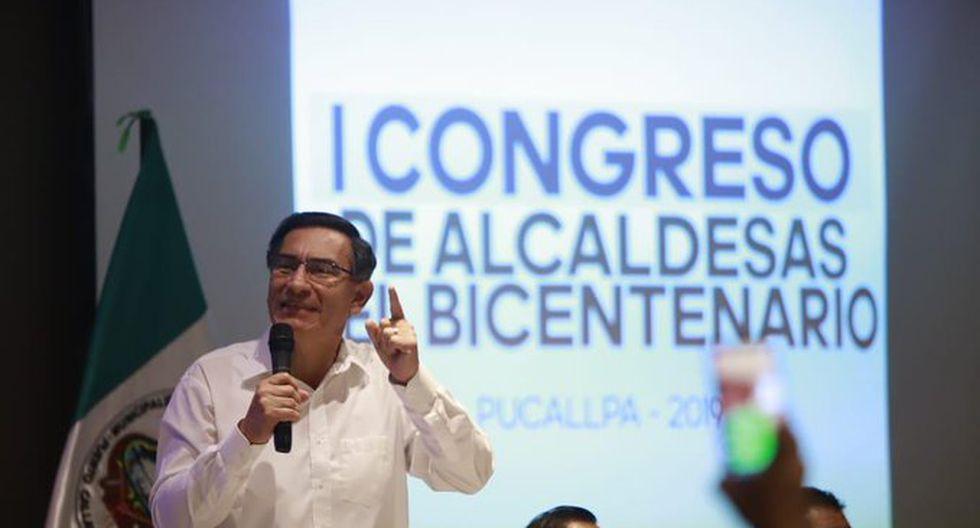 El mandatario Martín Vizcarra resaltó la necesidad de que las mujeres participen en la vida política del país. (Foto: Presidencia)