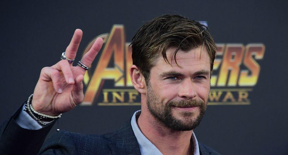 El cuarto lugar lo ocupa el avenger Chris Hemsworth con 64,5 millones (Foto: AFP)