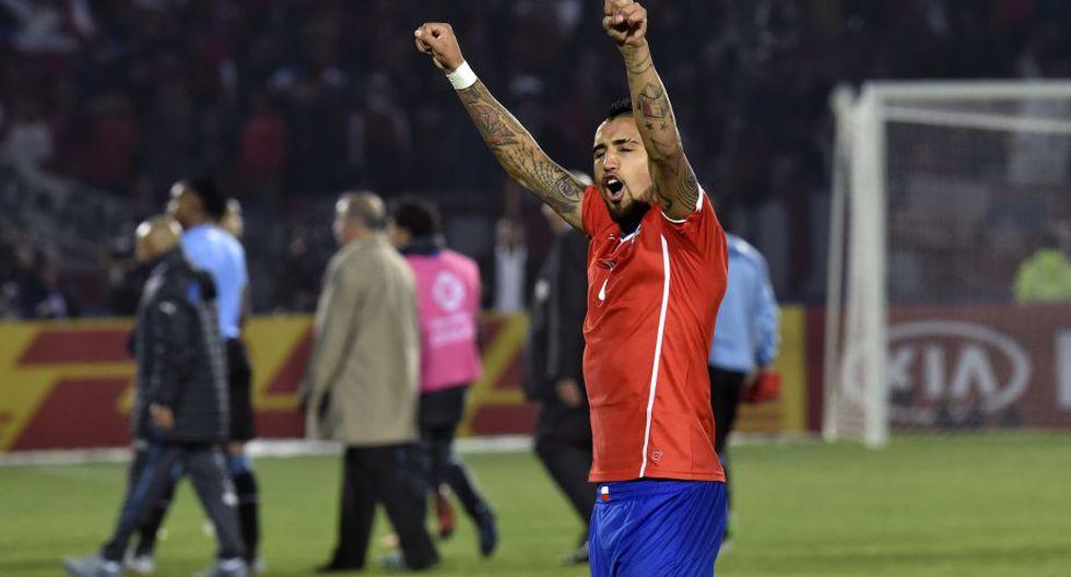 La producción goleadora de Vidal en la última Copa América fue muy favorable para los intereses de país. El chileno llegó anotar 3 veces en los 6 encuentros que jugó. (AFP)