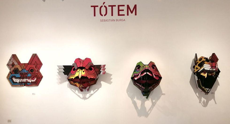 Maderas, bisagras, color y movimiento, dan vida a cuatro máscaras animales que hoy toman la galería de la tienda de arte Dédalo en la muestra Tótem. (Fotos: Behance.net)
