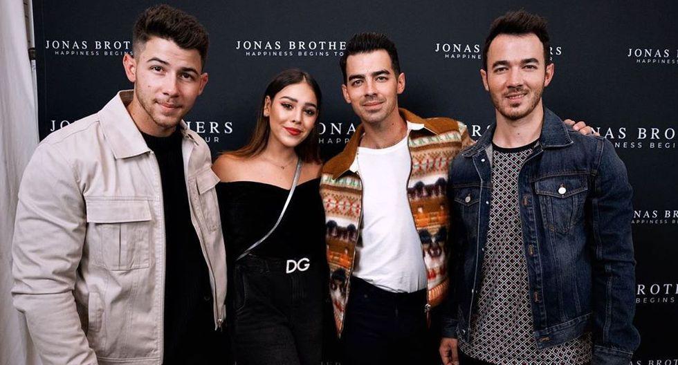 Danna Paola se reunió con los Jonas Brothers después de 10 años. (Foto: @dannapaola)