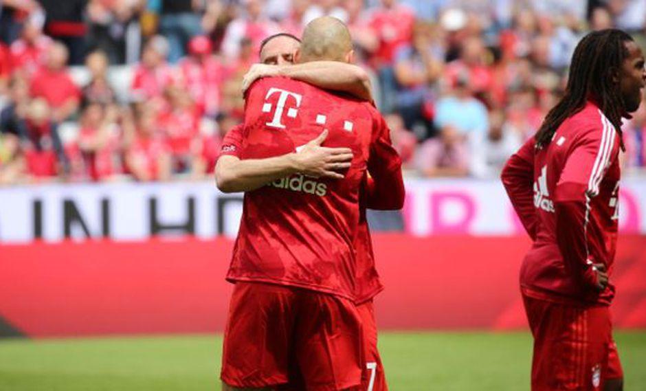 Robben y Ribéry se despiden de Bayern Munich en el duelo ante Eintracht Frankfurt. (Foto: Bayern Munich)