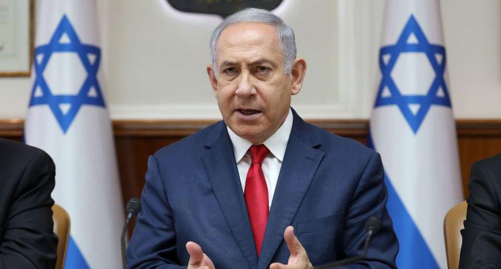 """Benjamin Netanyahu considera """"muy peligroso"""" el anuncio de Irán sobre uranio enriquecido. (AFP)"""