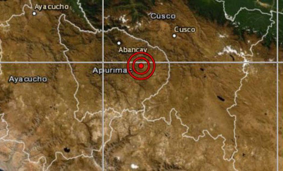 Autoridades locales del Instituto Nacional de Defensa Civil (Indeci) aún no han reportado daños personales ni materiales a causa del sismo. (Captura: IGP)