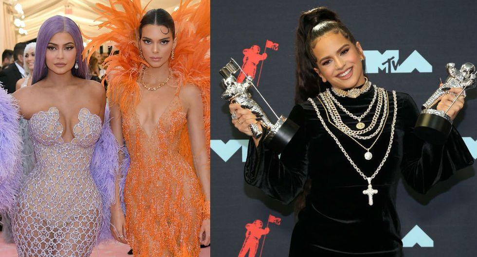 Kylie y Kendall Jenner recontra fans de Rosalía. (Foto: AFP)