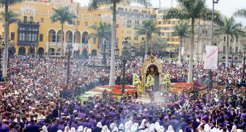 Procesión del Señor de los Milagros (Foto: Andina)