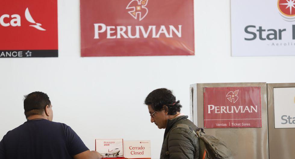 La empresa Peruvian Airlines anunció este viernes la suspensión de todos sus vuelos saliendo de Lima hasta nuevo aviso a causa de un embargo realizado por Aduanas. (Foto: GEC)
