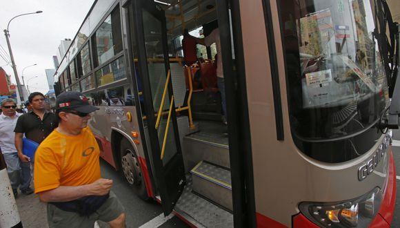 Cobro con tarjeta Lima Pass en el Corredor Rojo se realizará desde este miércoles. (Foto: Referencial/GEC)