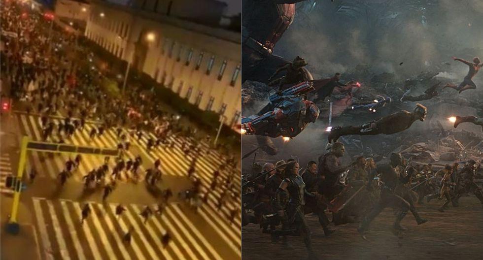 Captan momento donde ciudadanos marchan al Congreso y le ponen la música de 'Avengers: Endgame'. (Foto: Twitter/Marvel Studios)