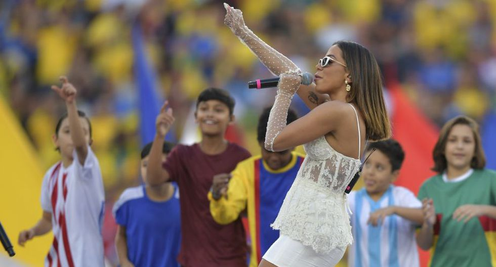 Brasil 2019: Anitta se robó todas las miradas en la previa al Perú vs. Brasil. (AFP)
