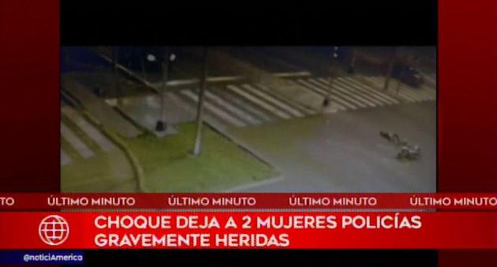 Este suceso fue registrado por una cámara de seguridad de la Municipalidad de Miraflores.(Foto: Captura América Noticias)