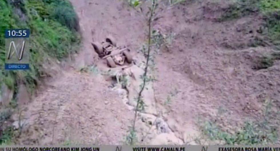 Buscan a operador de maquinaria que desapareció durante huaico (Captura: Canal N)