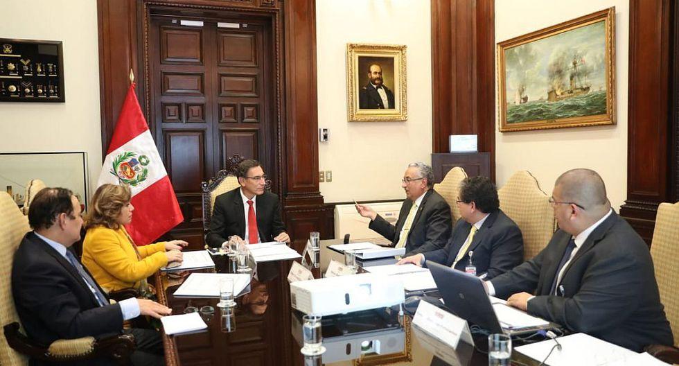 El presidente Martín Vizcarra recibió al Defensor del Pueblo y otras autoridades el lunes en Palacio de Gobierno. (Foto: Difusión)