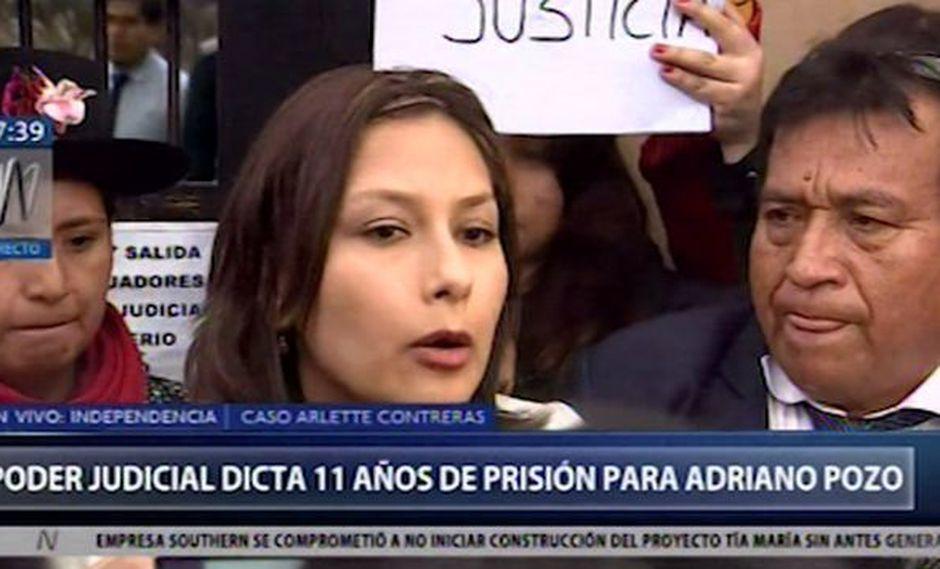 Arlette Contreras mostró su indignación por condena de 11 años para Adriano Pozo
