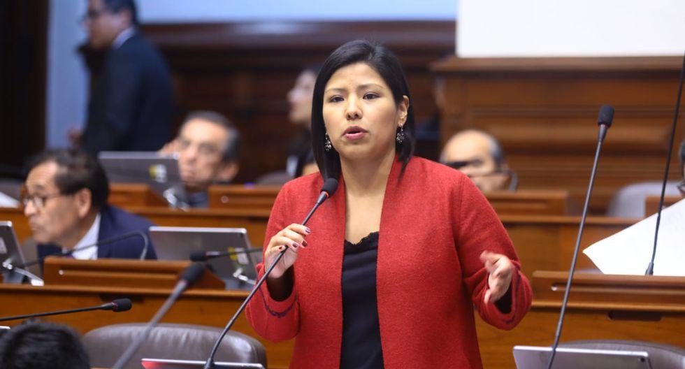 Indira Huilca es parte de la Comisión Permanente por la bancada Nuevo Perú. (Foto: Congreso)