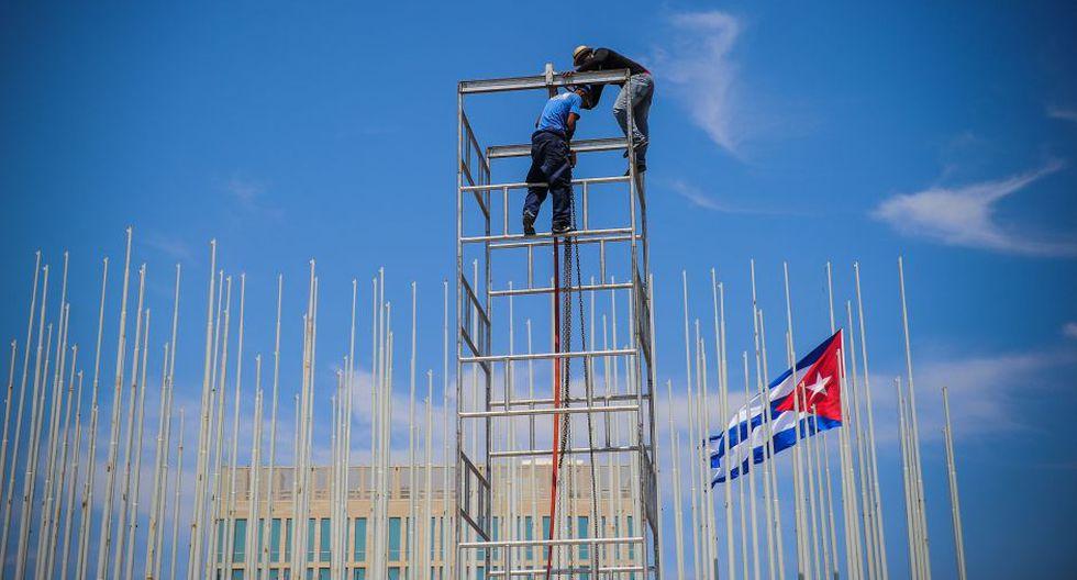 Cuba se prepara para la apertura de la embajada estadounidense en La Habana (Foto: AFP)