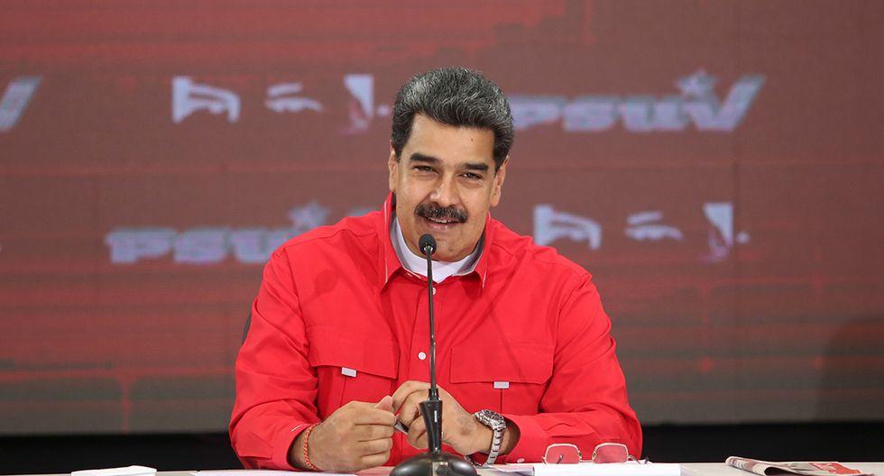 El presidente de Venezuela, Nicolás Maduro, durante una reunión con miembros del Partido Socialista Unido de Venezuela (PSUV) en Caracas. (Foto: AFP)